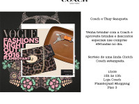 A tradicional marca americana COACH no do Vogue Fashion's Night Out